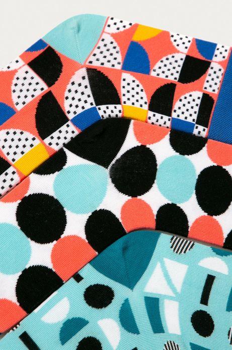 Skarpetki damskie w geometryczne wzory (3-pack)