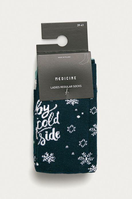 Skarpetki damskie w śnieżynki  (2-PACK)
