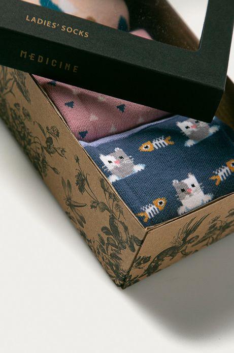 Skarpetki damskie koty (3-PACK)