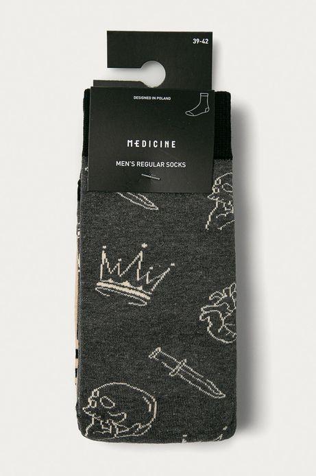 Skarpetki męskie wzorzyste (2-pack)