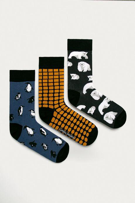 Skarpetki męskie w pingwiny i  niedźwiedzie (3-pack)