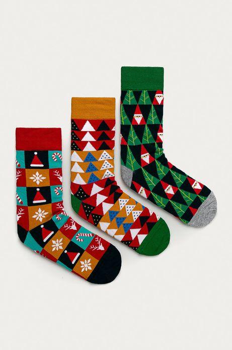 Skarpetki męskie z motywem świątecznym (3-PACK)