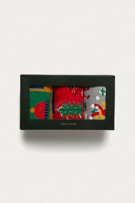 Skarpetki męskie z kolekcji X-mass by Artists (3-PACK)