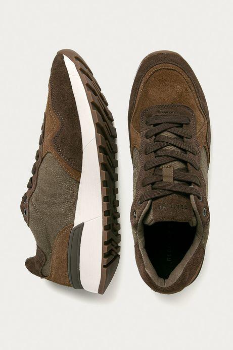 Buty męskie zamszowe brązowe