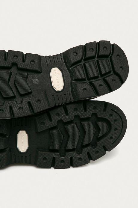 Skórzane buty zamszowe męskie bordowe