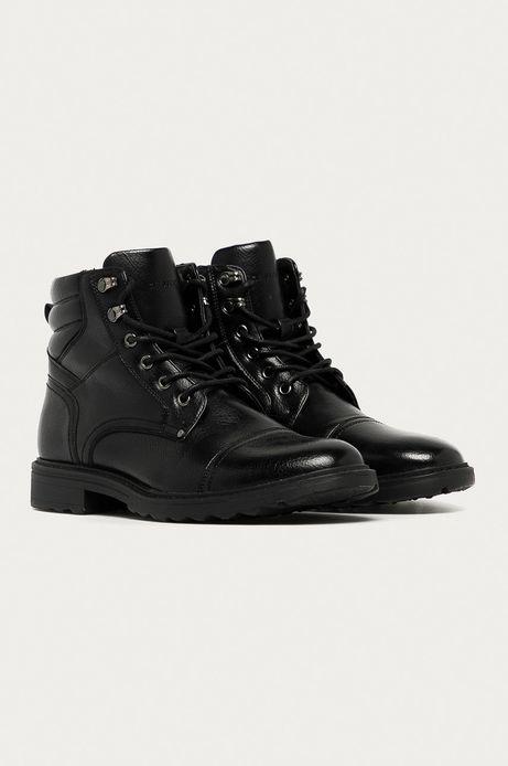 Buty wysokie męskie czarne