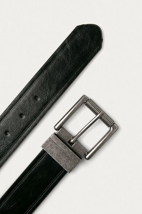 Pasek męski dwustronny czarny/ brązowy