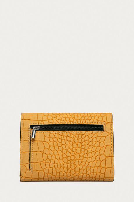 Portfel damski z motywem skóry krokodyla pomarańczowy