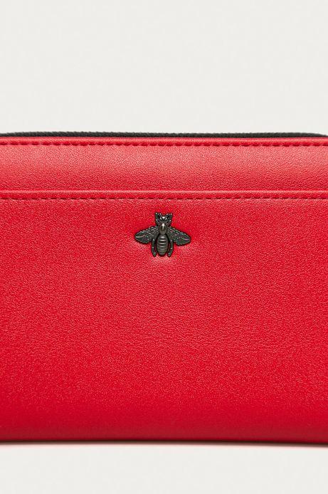 Portfel damski z dżetami czerwony
