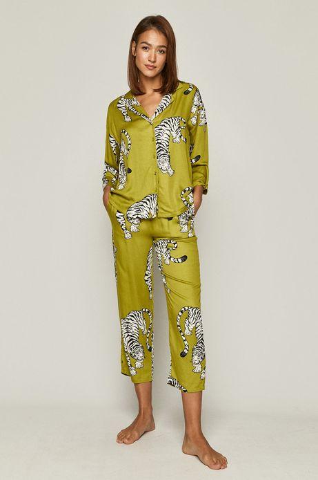 Piżama damska w tygrysy zielona