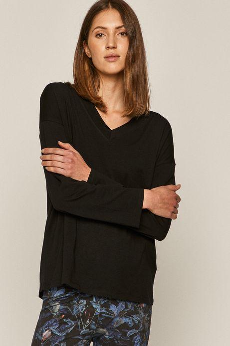 Piżama damska wzorzysta czarna