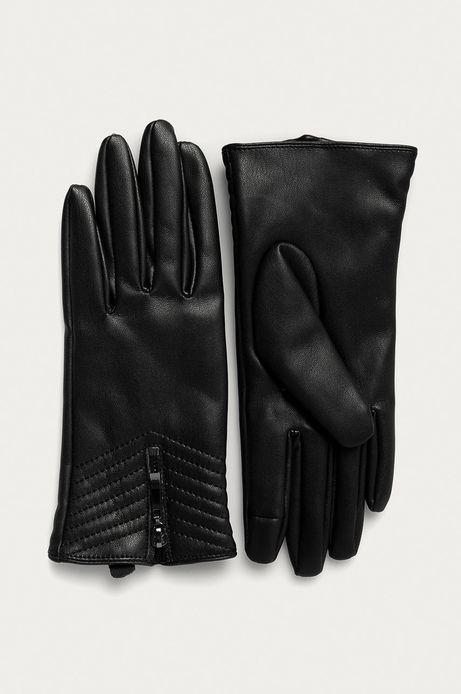 Rękawiczki damskie z suwakiem czarne
