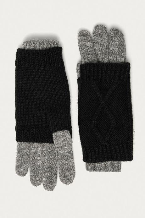 Rękawiczki damskie 2w1 Basic czarne