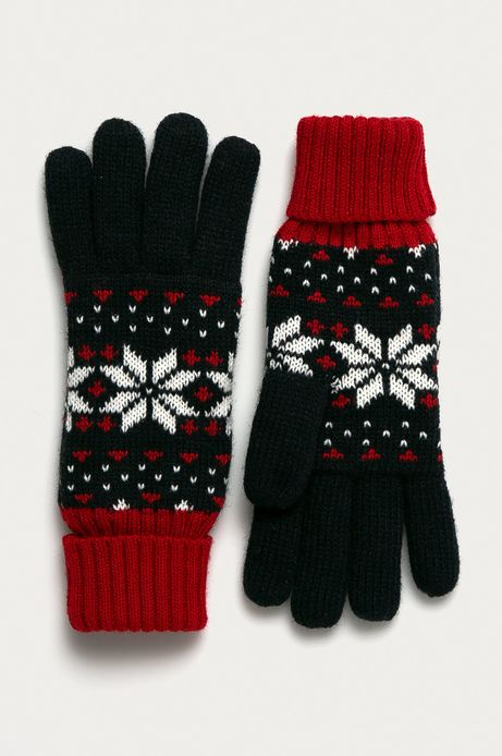 Rękawiczki damskie z motywem zimowym