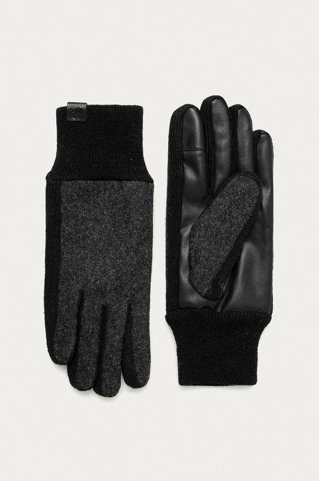 Rękawiczki męskie touch screen wełniane szare