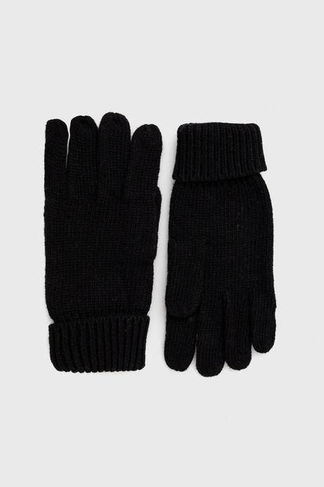 Rękawiczki męskie z domieszką wełny czarne