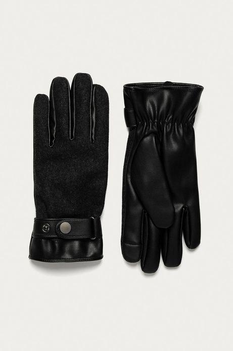 Rękawiczki męskie touch screen szare