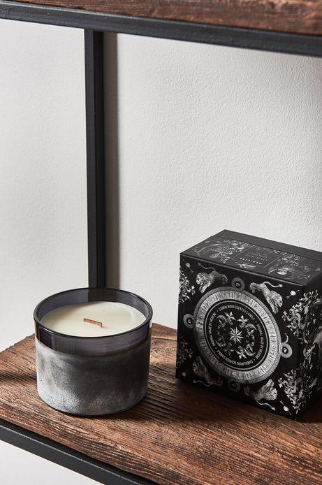 Duża świeca zapachowa z drewnianym knotem Sandalwood