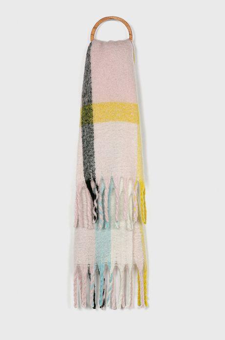Szalik damski kolorowy z frędzlami