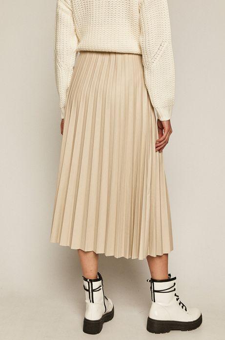 Spódnica damska plisowana kremowa