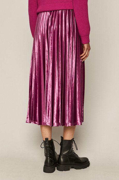 Spódnica damska plisowana różowa