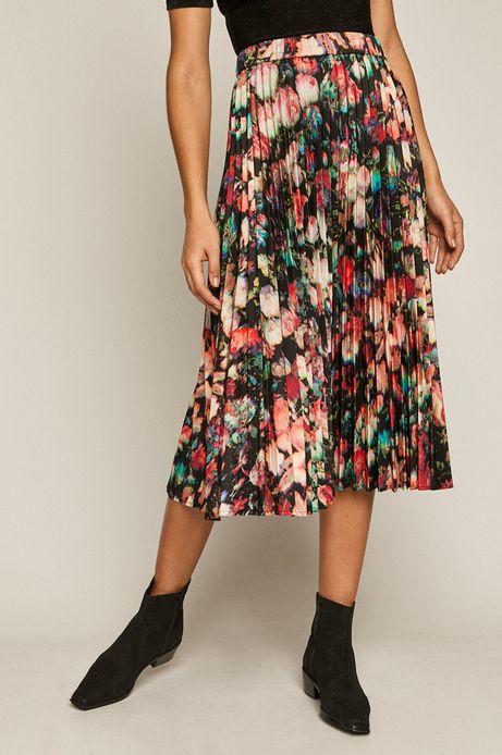 Spódnica damska plisowana w kwiaty