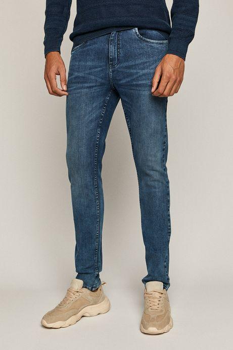 Jeansy męskie slim z bawełny organicznej niebieskie