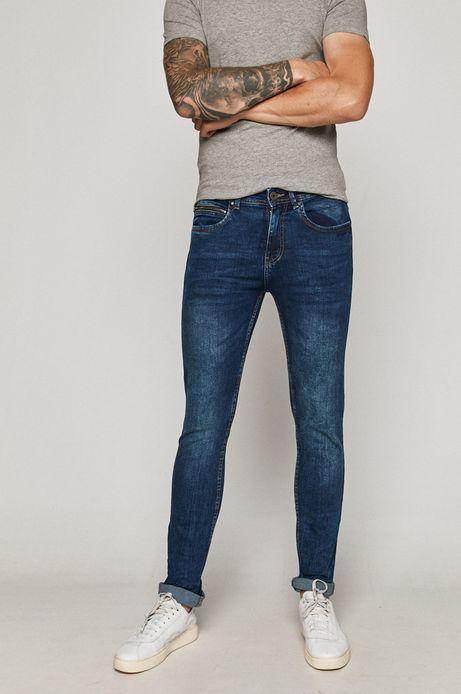 Jeansy męskie slim z bawełny organicznej granatowe