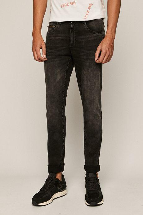 Jeansy męskie slim z bawełny organicznej czarne