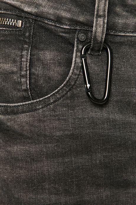Jeansy męskie slim z kieszeniami cargo szare