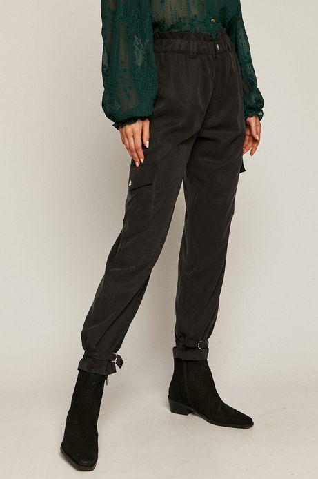 Spodnie damskie z kieszeniami szare