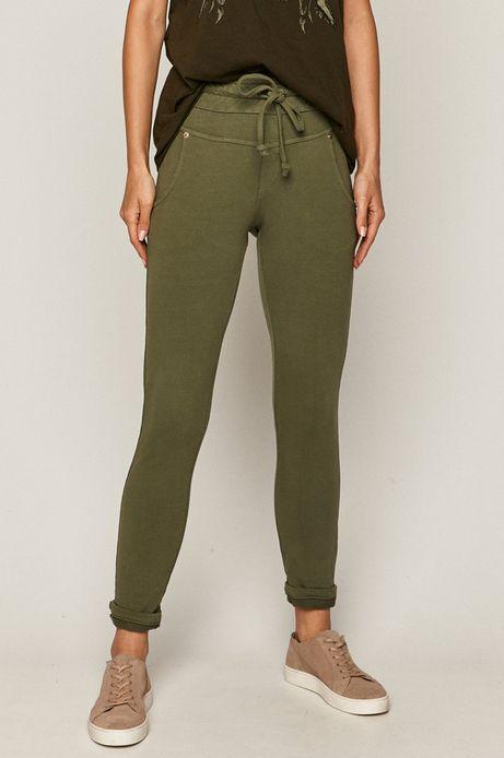 Spodnie damskie dresowe zielone