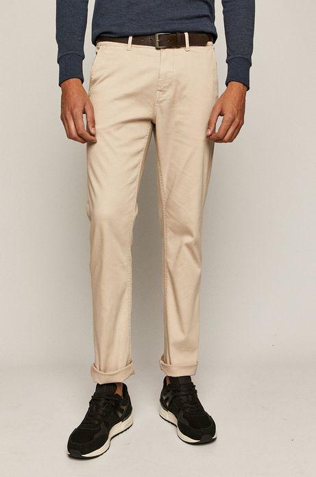 Spodnie męskie chino z paskiem beżowe
