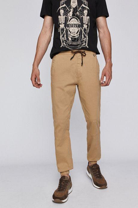 Spodnie męskie joggery beżowe