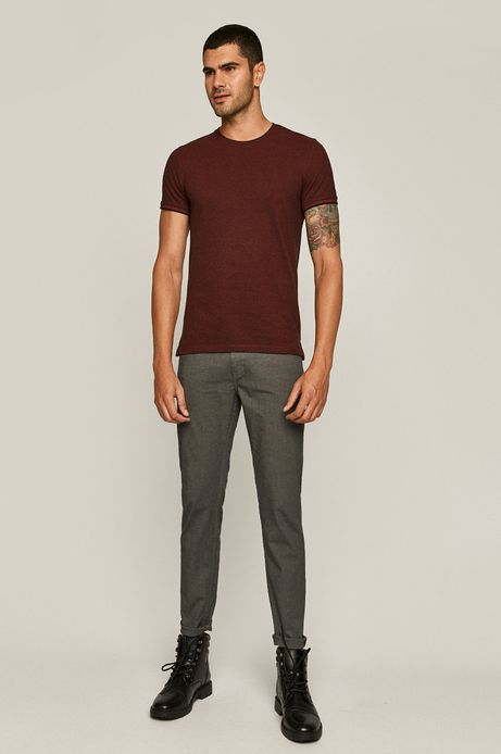 Spodnie męskie slim szare