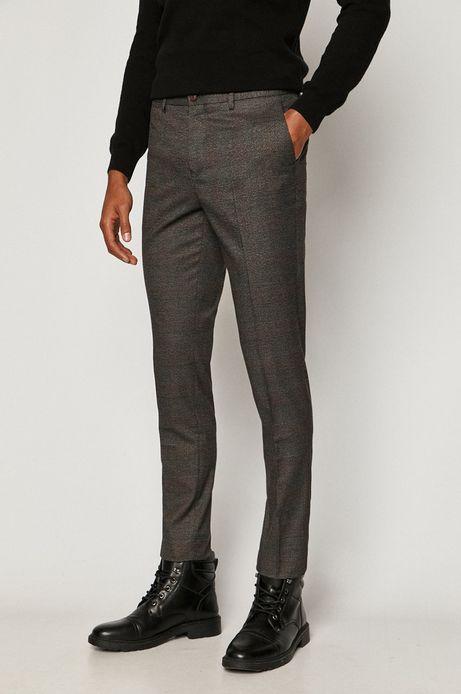 Spodnie męskie w kant szare