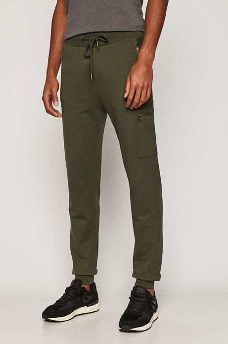 Spodnie męskie joggery zielone