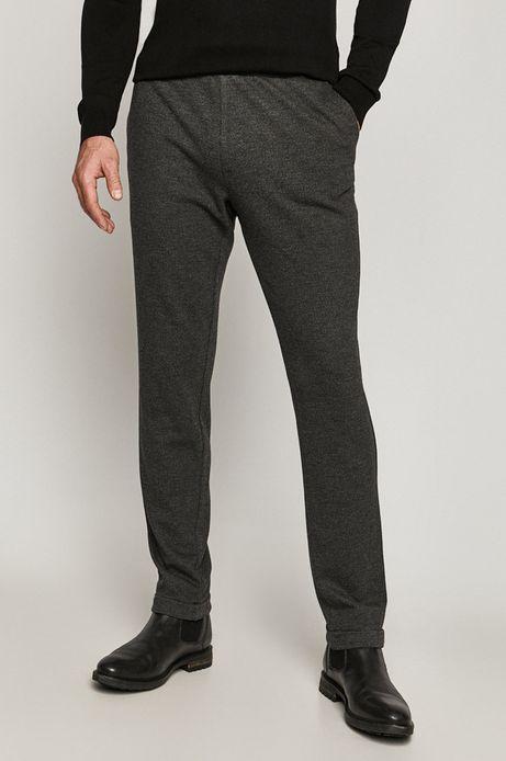 Spodnie męskie z gładkiej dzianiny szare