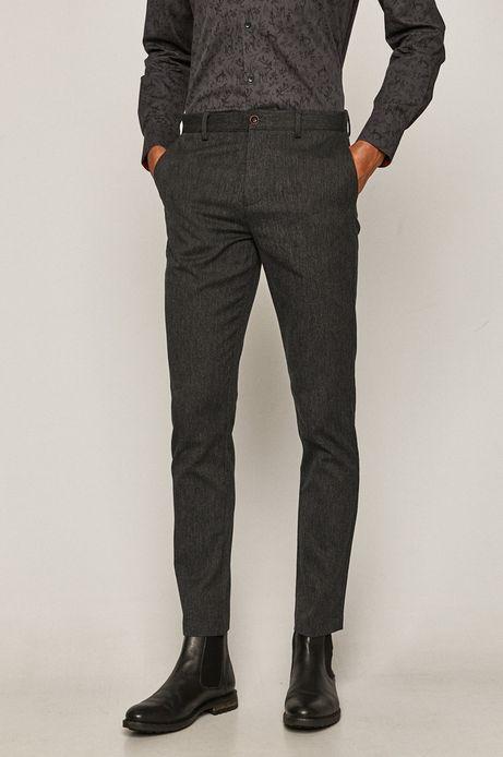 Spodnie męskie slim czarne