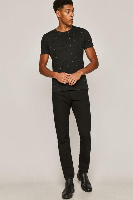 Spodnie męskie regular z paskiem czarne