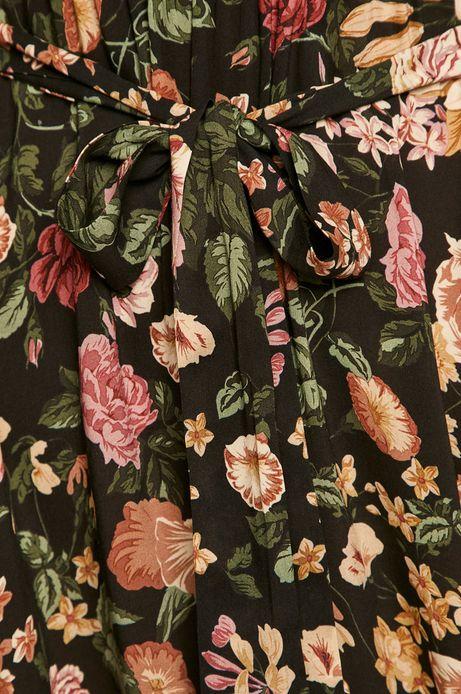 Sukienka damska w kwiaty wiązana w talii