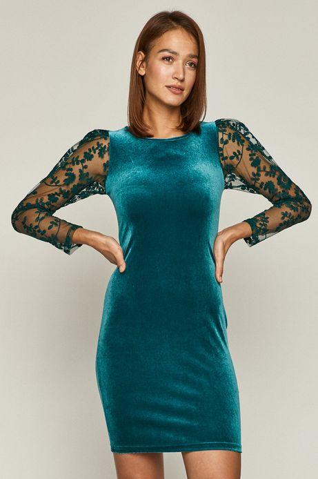 Sukienka damska z transparentnymi rękawami