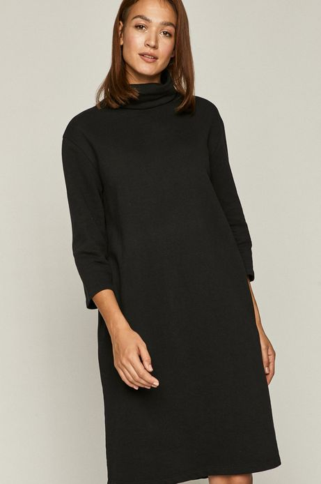 Sukienka damska z golfem czarna