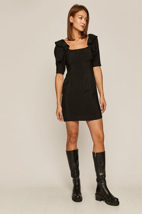 Sukienka damska z wiązaniem na plecach czarna