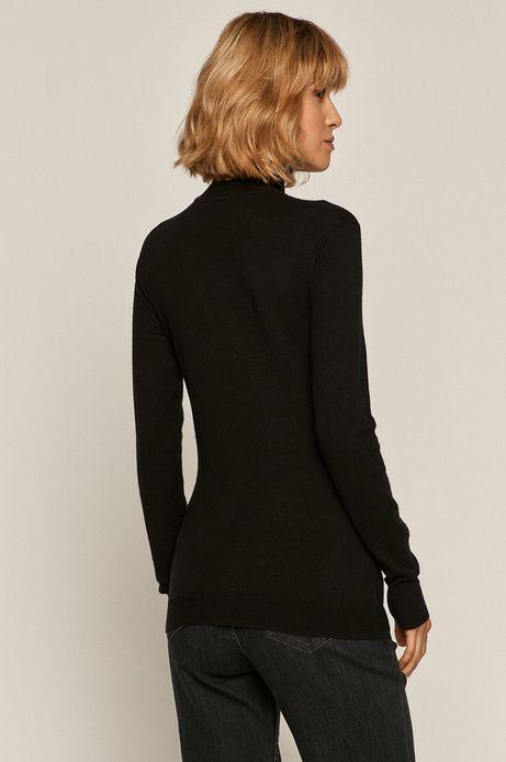 Sweter damski z golfem czarny