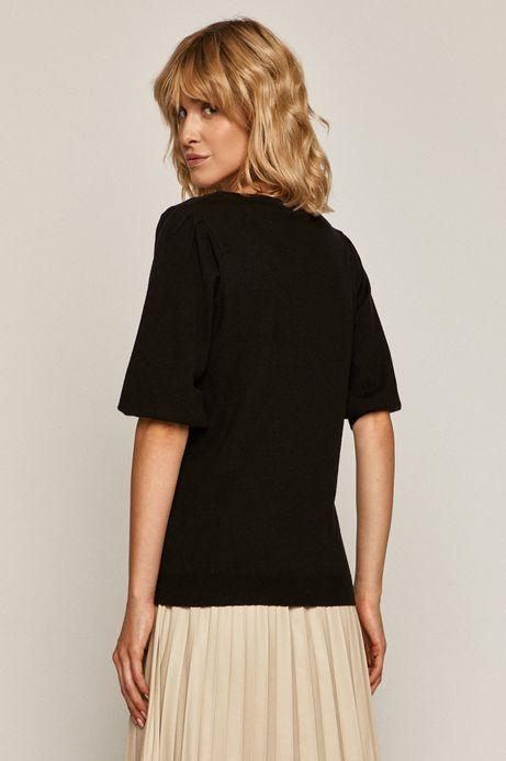 Sweter damski z krótkim rękawem czarny