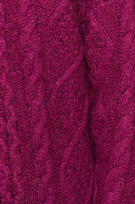 Sweter damski z recyklowanego poliestru fioletowy