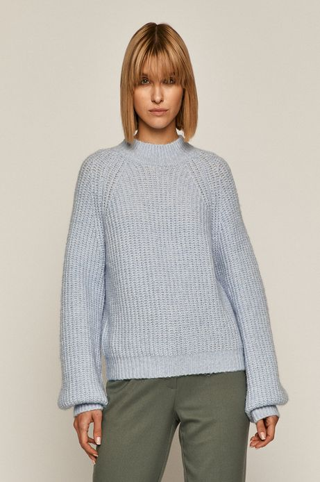 Sweter damski niebieski