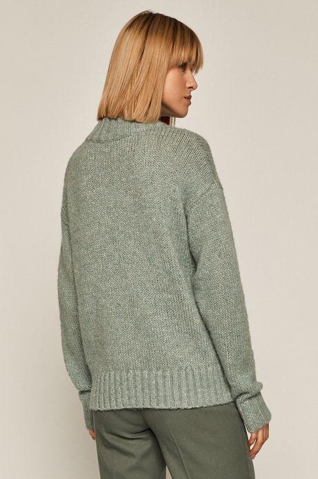 Sweter damski z recyklowanego poliestru zielony