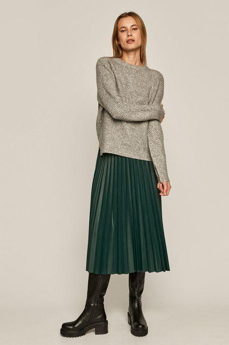 Sweter damski z recyklowanym poliestrem szary
